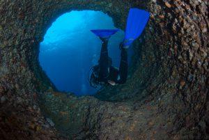 Höhlentauchgang Sardinien